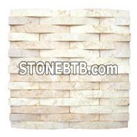 Travertine Mosaic, Travertine Pattern, Light Yellow Mosaic, Light Yellow Pattern