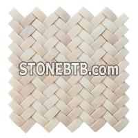 White Mosaic, Pink Mosaic, Travertine Mosaic