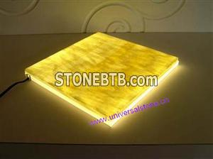 backlit honey onyx glass panel