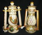 Artistic Marble Lamp with Kundan Work