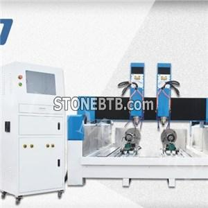 5 Axis Multi-Heads Stone Marble Granite CNC Router