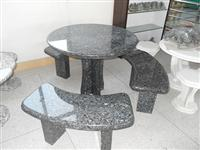 Granite Stone Table and Bench