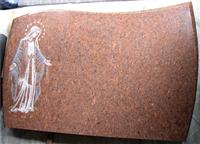 chinese dyed red granite tombstone
