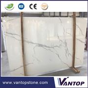 Calacatta White Artificial Marble Slabs for Countertop Dining Table Top