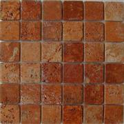 Golden travertine mosaic