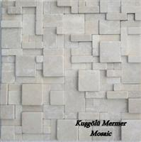 Silver White Marble Mosaic K23