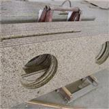 Natural Granite Prefabricated Light Grey Granite Kitchen Countertop With Bar Top