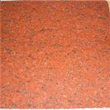 Dyed Red Granite Stone Painted Flooring Tile Stone Exterior And Indoor Tile