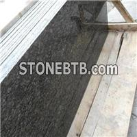 Fast Delivery Natural Big Flowers Green Granite Stone Slab For Tops Granite Countertops Good Price
