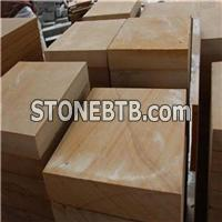 Chinese Yellow Wood Vien Sandstone Slab