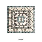 Rectangular mosaic medallion