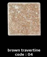 brown travertine of  tiles