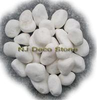 Snow white pure white pebble