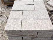 Red granite for outside stones