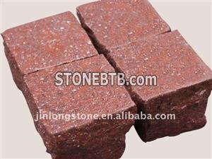 Red cube stone