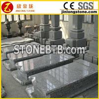 wave white granite monuments
