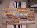 rusty slate nature culture stone  Stacked wall Panels
