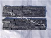 black quartzite nature culture stone  Stacked wall Panels