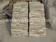 beige slate nature culture stone  Stacked wall Panels