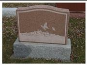 Carving Tombstone, Red Monument, European Gravestone