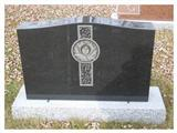 Carving Tombstone, Black Monument, European Gravestone