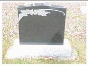 Black Granite Headstone, European tombstone