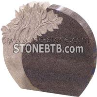 American Style Headstone with Carving