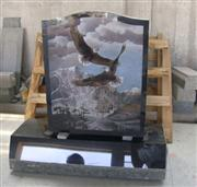 Shanxi Black Granite Monument with shadow carving