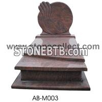 European style granite tombstone AB-M003