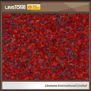 Cheap Price Polished Ruby Red Granite Countertop Vanity Tops