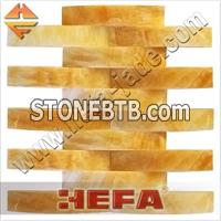 XMD001O Honey Onyx stone mosaic