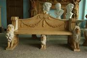 Limestone Carved Bench