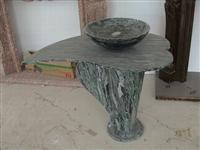 Wave Green Granite Pedestal Basin
