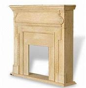 Marble Fireplace with Fully and Laminated Bull-nosed Edges - WFCMFP001