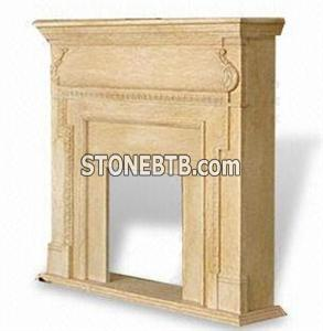 Marble Fireplace with Fully and Laminated Bull nosed Edges WFCMFP001