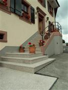 Stairs in Rosa Porrino, flamed
