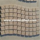 Rusty yellow G682 cubestone or paving