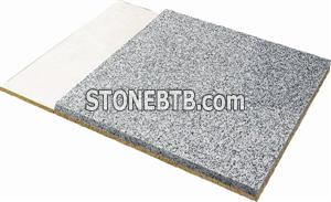 Fire-proof backed stone panel
