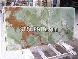 Glass Backed Onyx Stone Panel