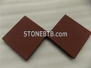 Chocolate sandstone honed slab, brown sandstone honed tile