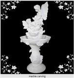 White marble carving stone fountain