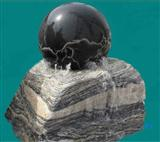 Black granite globe carving fountain