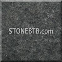 Black basalt flamed slabs