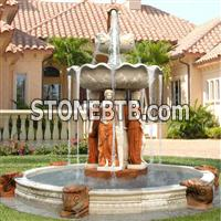 beauty fountain, washing girl fountain