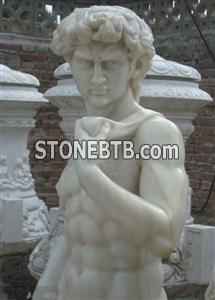 white marble statue of david