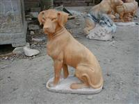 dog stone statue, dog marble statue