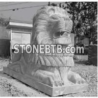 lion stone statue, kylin stone statue