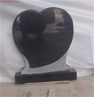 Black granite heart shape tombstone Model C002