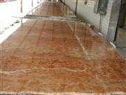 Rojo Alicante marble polished floor tile