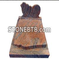 China Red Granite Tombstone
